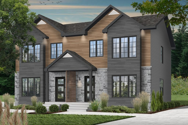 Colonial Style House Plan - 3 Beds 1.5 Baths 2398 Sq/Ft Plan #23-2149 Exterior - Front Elevation