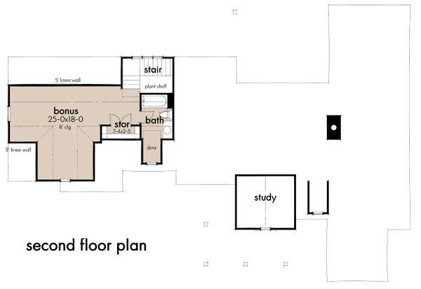 Farmhouse Floor Plan - Upper Floor Plan #120-270