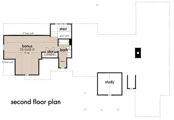 Architectural House Design - Farmhouse Floor Plan - Upper Floor Plan #120-270
