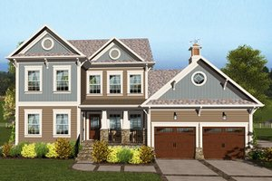 Craftsman Exterior - Front Elevation Plan #56-707