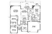 Prairie Style House Plan - 3 Beds 2.5 Baths 3012 Sq/Ft Plan #124-1214 Floor Plan - Main Floor