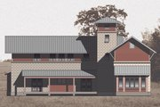 Farmhouse Style House Plan - 4 Beds 4 Baths 3465 Sq/Ft Plan #531-2 Exterior - Front Elevation