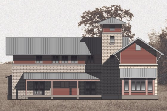Farmhouse Exterior - Front Elevation Plan #531-2