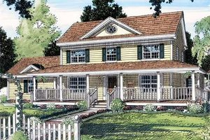 Country Exterior - Front Elevation Plan #312-154