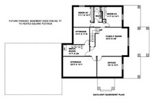 Craftsman Floor Plan - Lower Floor Plan Plan #117-883