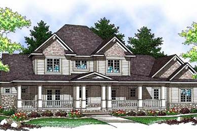 Craftsman Exterior - Front Elevation Plan #70-910