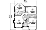 European Style House Plan - 1 Beds 1 Baths 1274 Sq/Ft Plan #25-4656 Floor Plan - Main Floor Plan