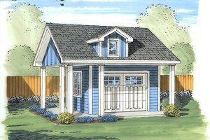 Traditional Exterior - Front Elevation Plan #455-13