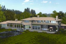 Dream House Plan - Modern Exterior - Rear Elevation Plan #48-256