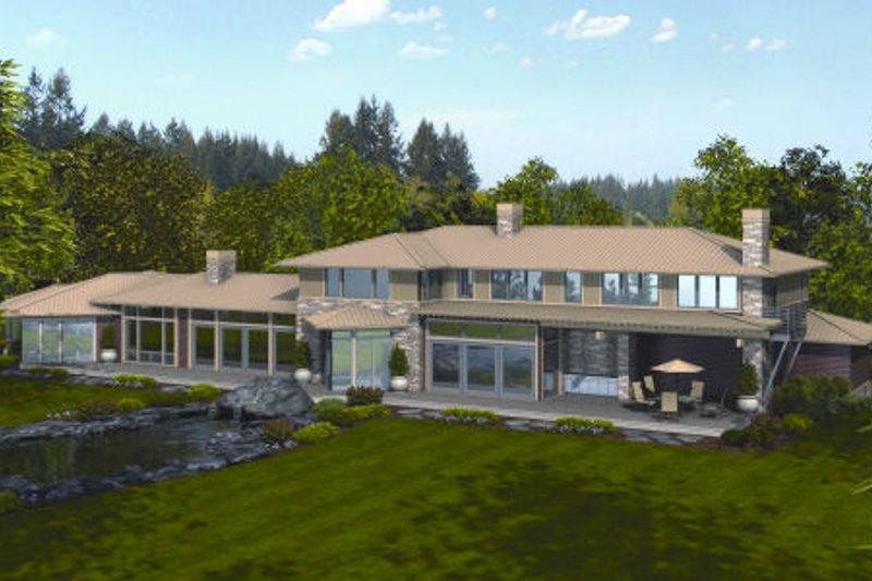 Modern Exterior - Rear Elevation Plan #48-256 - Houseplans.com
