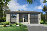 Contemporary Style House Plan - 2 Beds 1 Baths 1211 Sq/Ft Plan #25-4371 Exterior - Front Elevation