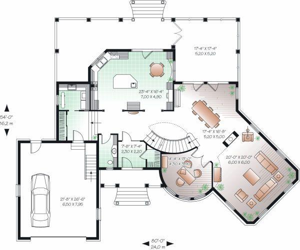 European Floor Plan - Main Floor Plan Plan #23-843