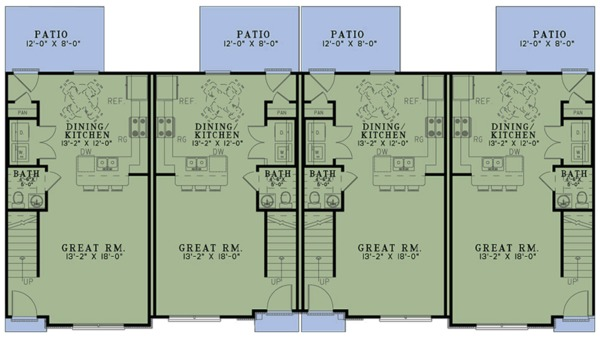 Country Floor Plan - Main Floor Plan Plan #17-3421