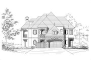 European Style House Plan - 5 Beds 5.5 Baths 5111 Sq/Ft Plan #411-696 Exterior - Front Elevation
