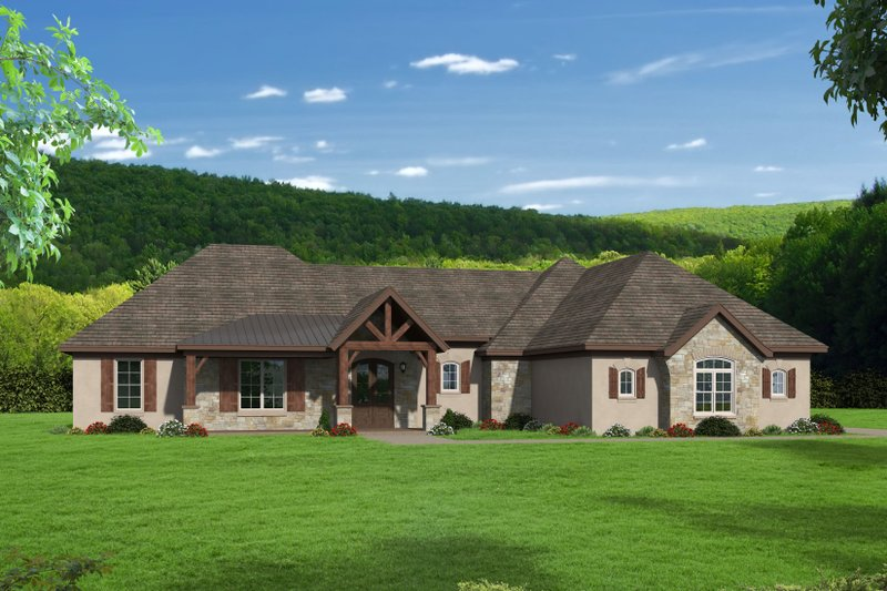 Dream House Plan - Traditional Exterior - Front Elevation Plan #932-104