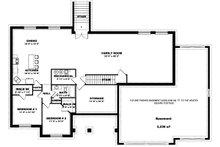 Farmhouse Floor Plan - Lower Floor Plan Plan #1060-47