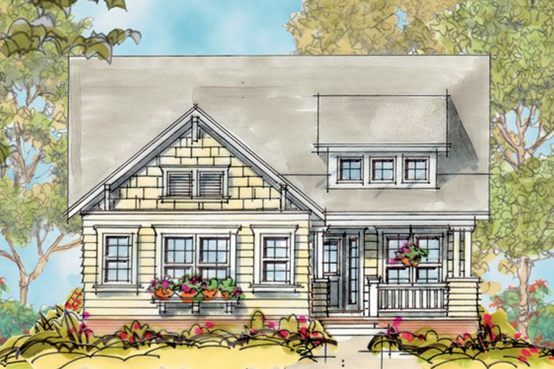 Craftsman Exterior - Front Elevation Plan #20-1745