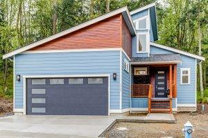 Home Plan Design - Contemporary Exterior - Front Elevation Plan #1070-30