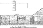 Country Style House Plan - 3 Beds 2 Baths 1652 Sq/Ft Plan #14-122 Exterior - Rear Elevation