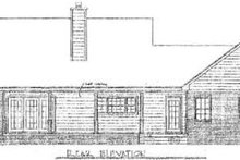 Country Exterior - Rear Elevation Plan #14-122
