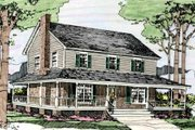 Country Style House Plan - 3 Beds 2.5 Baths 1779 Sq/Ft Plan #406-249 Exterior - Front Elevation