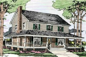 Country Exterior - Front Elevation Plan #406-249