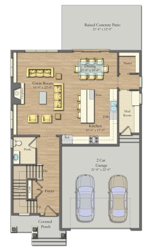 Architectural House Design - Farmhouse Floor Plan - Main Floor Plan #1057-28