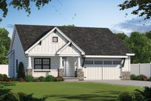 House Plan Design - Craftsman Exterior - Front Elevation Plan #20-2455