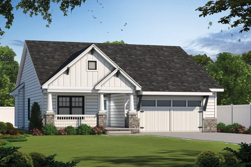 Dream House Plan - Craftsman Exterior - Front Elevation Plan #20-2455