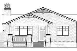 Bungalow Exterior - Front Elevation Plan #490-27