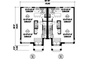 Contemporary Style House Plan - 6 Beds 2 Baths 3423 Sq/Ft Plan #25-4397