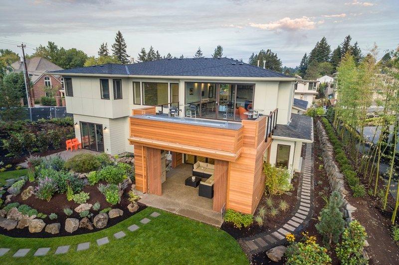 Contemporary Exterior - Rear Elevation Plan #48-651 - Houseplans.com