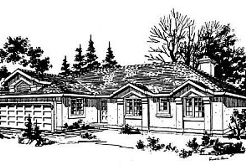 House Blueprint - Ranch Exterior - Front Elevation Plan #18-128