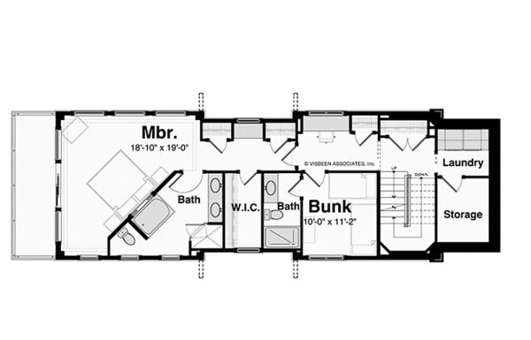 Contemporary Floor Plan - Upper Floor Plan Plan #928-249