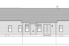 House Plan Design - Ranch Exterior - Rear Elevation Plan #1010-68