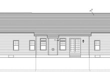 Dream House Plan - Ranch Exterior - Rear Elevation Plan #1010-68
