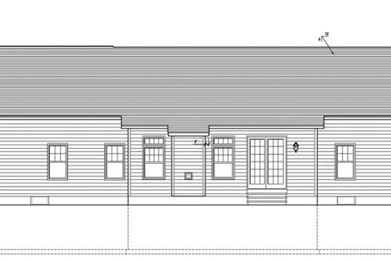 Ranch Exterior - Rear Elevation Plan #1010-68 - Houseplans.com