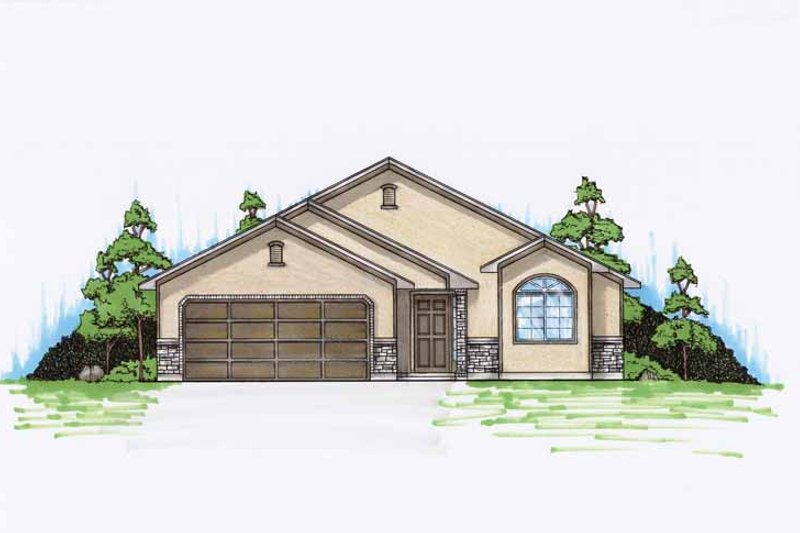 Traditional Exterior - Front Elevation Plan #945-80 - Houseplans.com