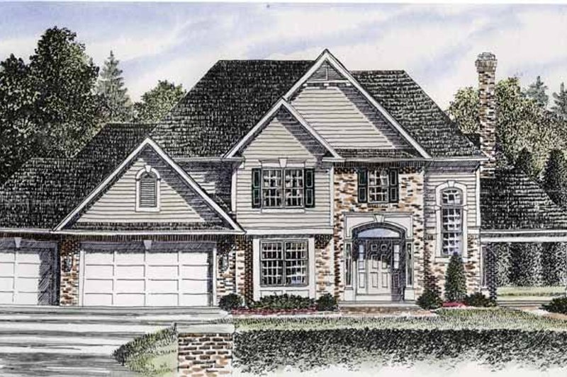 Traditional Exterior - Front Elevation Plan #316-191 - Houseplans.com