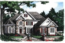 Mediterranean Exterior - Front Elevation Plan #927-98