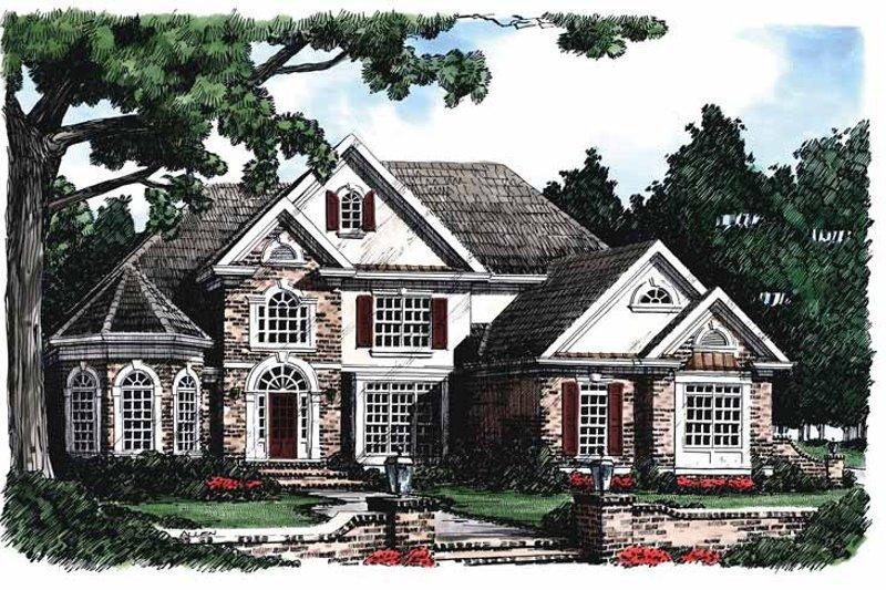 House Plan Design - Mediterranean Exterior - Front Elevation Plan #927-98
