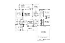 Traditional Floor Plan - Main Floor Plan Plan #929-965