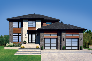 Dream House Plan - Contemporary Exterior - Front Elevation Plan #25-4282