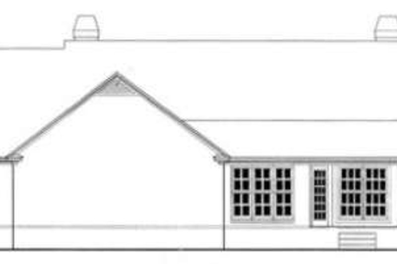 Colonial Exterior - Rear Elevation Plan #406-191 - Houseplans.com