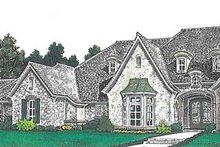 European Exterior - Front Elevation Plan #310-1260