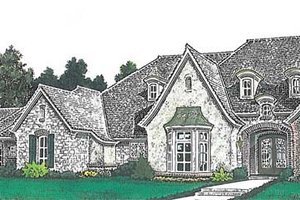 Home Plan - European Exterior - Front Elevation Plan #310-1260
