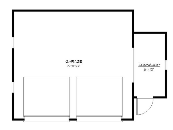 Craftsman Floor Plan - Main Floor Plan Plan #922-1