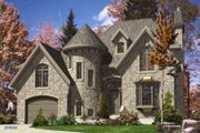 European Style House Plan - 3 Beds 1.5 Baths 1610 Sq/Ft Plan #138-146 Exterior - Front Elevation