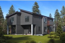 Home Plan - Contemporary Exterior - Rear Elevation Plan #1066-71