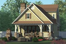Architectural House Design - Craftsman Exterior - Rear Elevation Plan #453-634